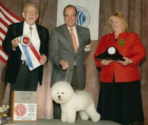 Whitebred's First BEST IN SHOW The Prince 4-09